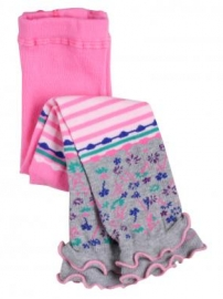 fond-stripe-ditzy-floral-footless-tights-bright-pink