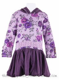 castle_spot_trimmed_royal_rose_hooded_dress-GBD5213FL24-love