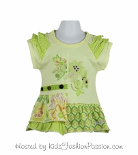 embroidered applique print ruffled tunic-GBT4400SU24-cleo