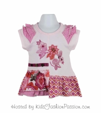 embroidered applique print ruffled tunic-GBT4400SU24-pearly