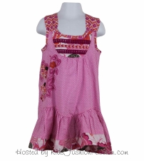 embroidered tropic print lawn dress-GBD4370SU24-pearly