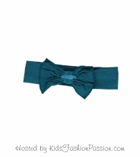 floral embroidered bow trimmed headband-GBA4090SU24-jungle green