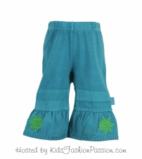 knit bottoms with woven bell bottoms-GBB4365SU24-jungle green