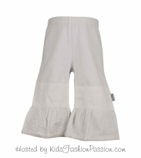 knit bottoms with woven bell bottoms-GBB4365SU24-white