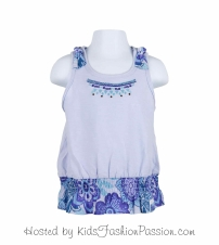 macaw floral ruffled knotted strap top-GBT4416SU24-sparkle