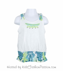 macaw floral ruffled knotted strap top-GBT4416SU24-white-tes