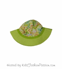 tropic print trimmed macaw floral sunhat-GBA4445SU24-cleo