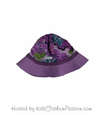 tropic print trimmed macaw floral sunhat-GBA4445SU24-delight