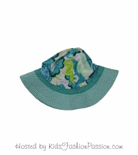 tropic print trimmed macaw floral sunhat-GBA4445SU24-white-tes