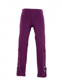 essentials button & netting trimmed ribbed leggings GBB5681WT14 renee